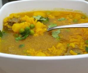 Sopa de arroz Y Carne