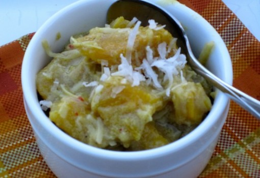 "<span class=""p-name"">Pumpkin with Coconut and Curry</span>"