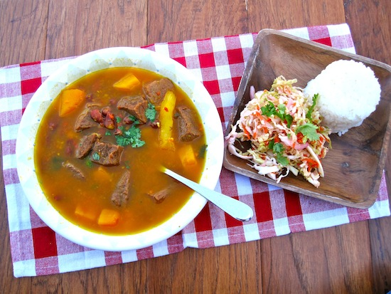 Red Bean, Beef  and Pumpkin Soup