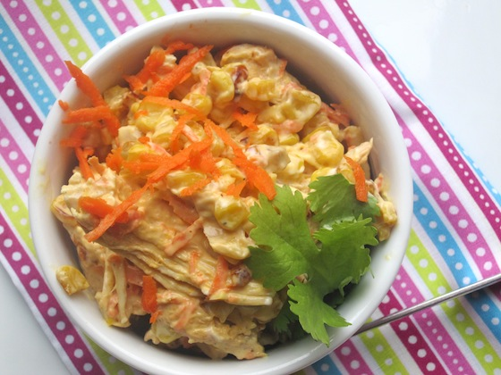 Shredded Chicken and Corn Salad