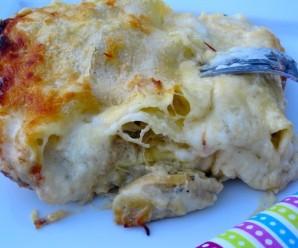 Lasagna de Pollo con Champiñones