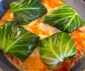 Stuffed Cabbage Cooking