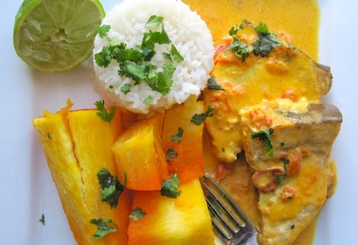 "<span class=""p-name"">Sudado de Pescado al Coco (Fish Stew with Coconut)</span>"