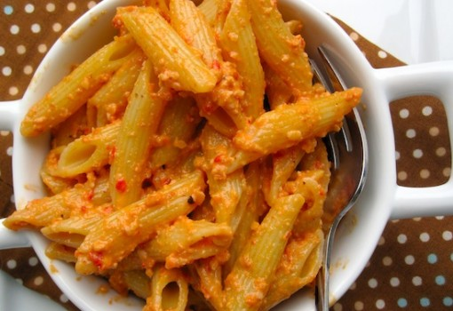 "<span class=""p-name"">Pasta with Roasted Red Pepper Pesto</span>"