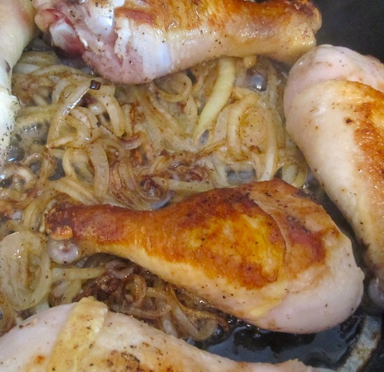 onions and Chicken