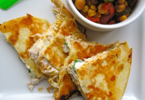 Creamy Chicken Quesadilla