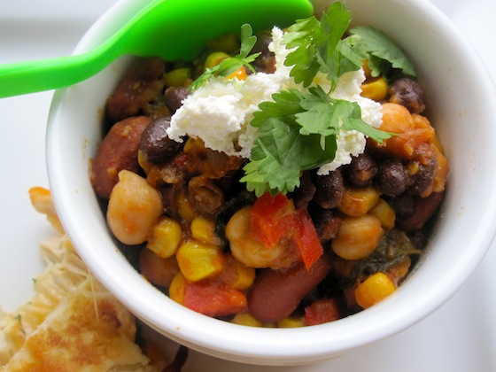 Meatless and  Delicious Chili