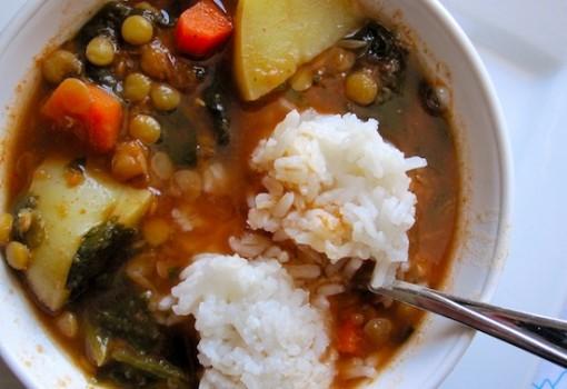 """<span class=""""p-name"""">Lentil and Spinach Soup (Sopa de Lentejas con Espinacas)</span>"""