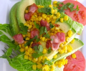 Avocado and Corn Salad with Lime Vinagrette