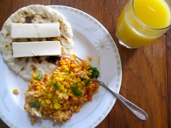 ... Scrambled Eggs with Tomato, Scallions and Corn) | My Colombian Recipes