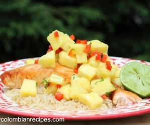 Salmon with Paineapple Salsa Recipe