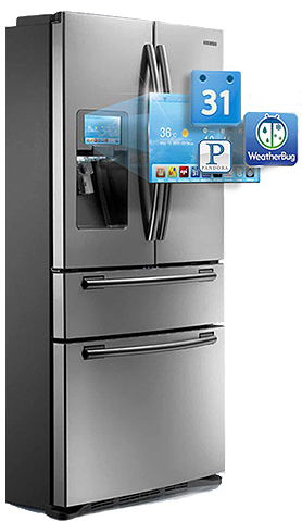 Samsung 4 door lcd refrigerator with apps my colombian - Refrigerateur table top sans freezer ...