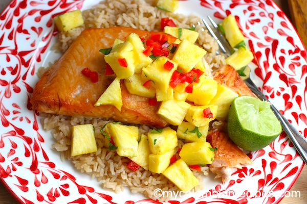 How to Make salmon with Pineapple Salsa