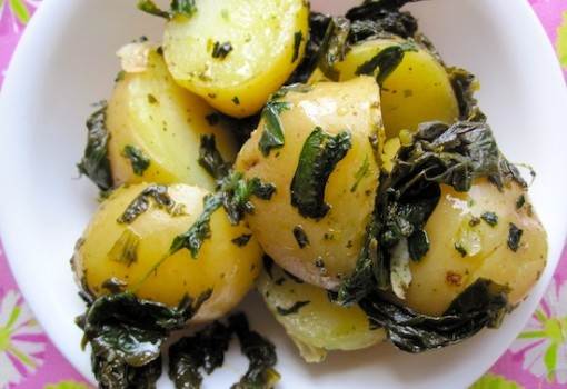 "<span class=""p-name"">Papas con Espinacas (Potatoes with Spinach)</span>"