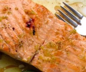 Salmon with Lime-Sherry Sauce