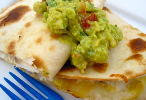 Tilapia Quesadillas with Guacamole