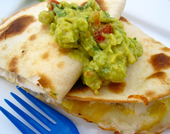 quesadillas is quesadillas with guacamole pork and cheese quesadillas ...