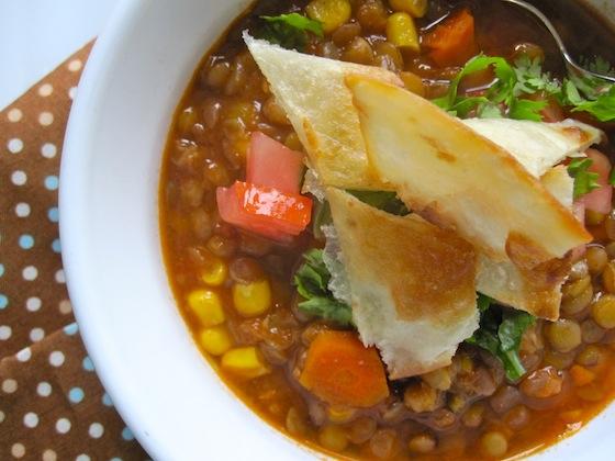 Meatless lentils Chili