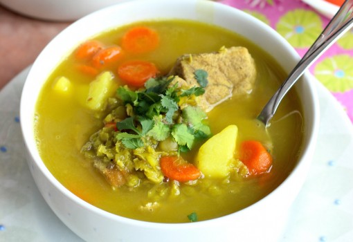 Split Pea soup and Pork Soup (Sopa de Alverjita y Cerdo) |mycolombianrecipes.com