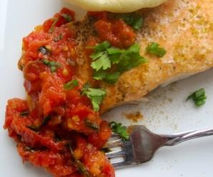 Salmon With Hogao