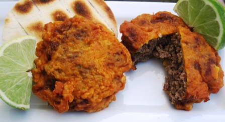 "<span class=""p-name"">Tortas de Carne Colombianas (Colombian-Style Meat Fritters)</span>"