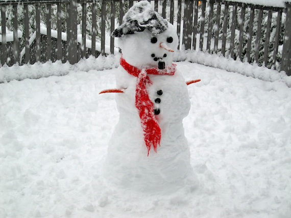 Active Green + Ross Guide To Great Winter Family Escapes 7 ...  Snowman Too Much Snow