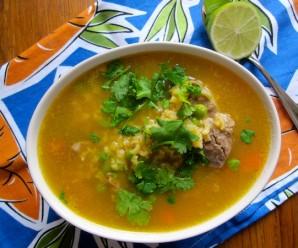 Sopa de arroz con espinazo