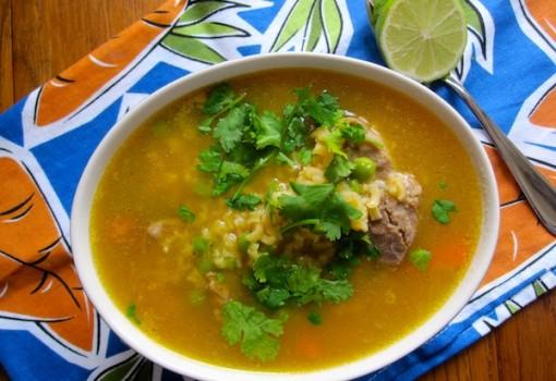 """<span class=""""p-name"""">Sopa de Arroz con Espinazo de Cerdo (Rice and Pork Soup)</span>"""
