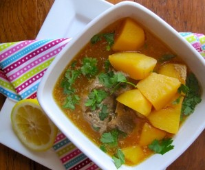 Caldo de Papas con Espinazo (Colombian Potato-Pork Soup)