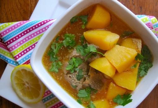 """<span class=""""p-name"""">Caldo de Papas con Espinazo (Colombian Potato-Pork Soup)</span>"""
