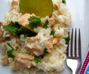 Creamy Salmon Rice