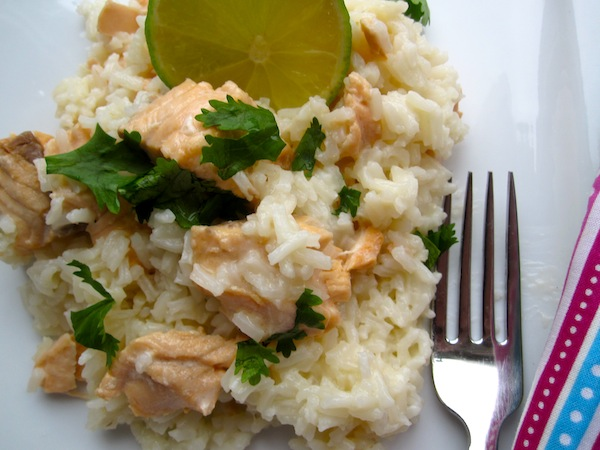 Creamy Salmon Rice