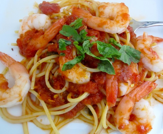 Spaghetti with Shrimp Fra Diavolo