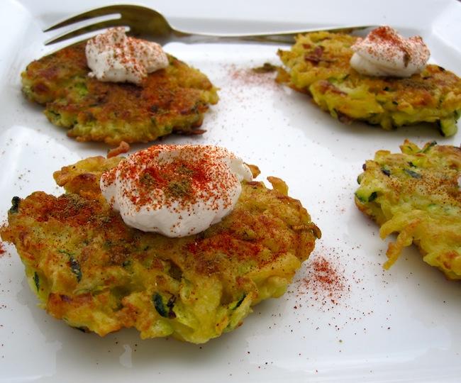 Zucchini and potato Pancake
