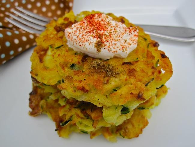 Zucchini and potato pancakes by Joy
