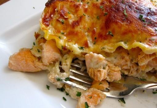 """<span class=""""p-name"""">Seafood Lasagna (Lasaña Marinera)</span>"""
