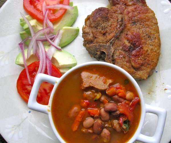 Pork Chop with Beans