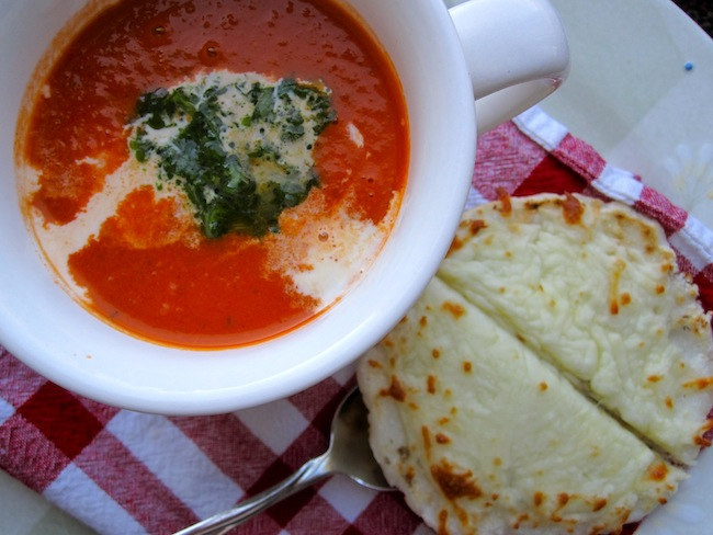 Sopa o Crema de Tomate con Albahaca(Tomato and Basil Soup)
