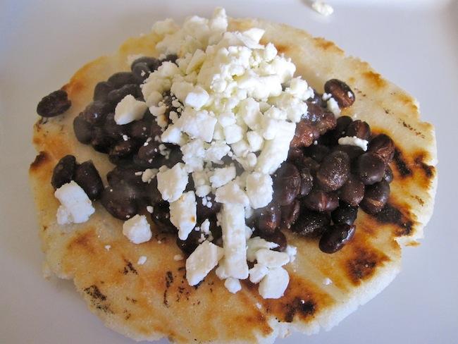 arepa w:beans.cheese