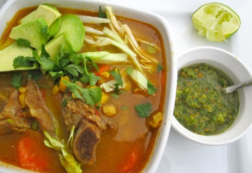 "<span class=""p-name"">Cuchuco de Maíz (Pork and Hominy Corn Colombian Soup)</span>"