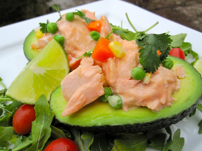 Avocado Filled with Salmon