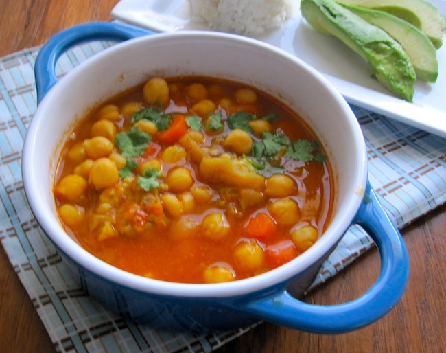 Colombian chickpea soup