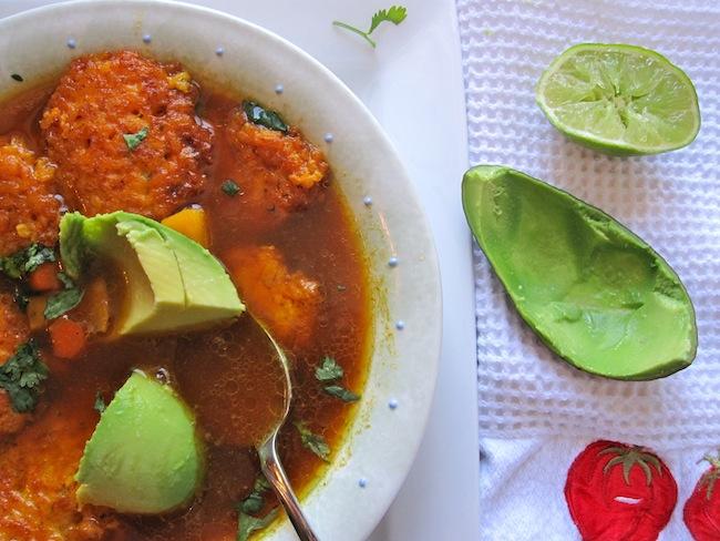 Sopa de Orejas (Colombian Rice fritters Soup)