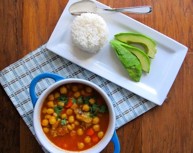Garbanzos con Paticas de Cerdo (Chick Peas with Pork Feet Stew)