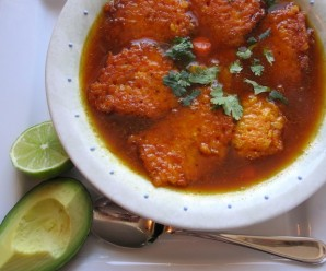 (Colombian Rice fritters Soup)