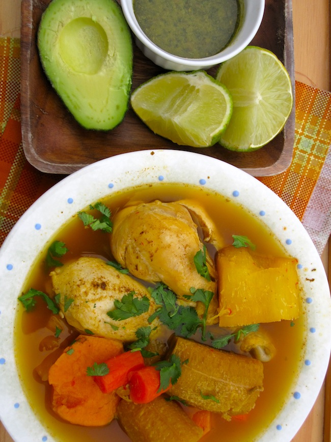 Hervido Llanero de Pollo (Colombian Chicken Soup from Los Llanos)