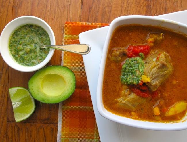 Sango o Cus-Cus (Pork, Potatoes and Hominy soup)