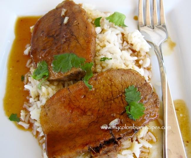 Muchacho con Melao de Panela (Beef with Cane Sugar Syrup)