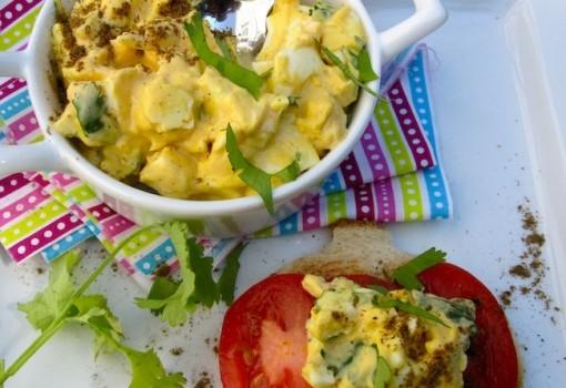 Ensalada de Huevo con Comino y Cilantro
