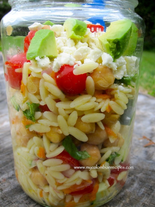 Picnic Orzo Salad and GE French Door Fridge Review | My Colombian ...